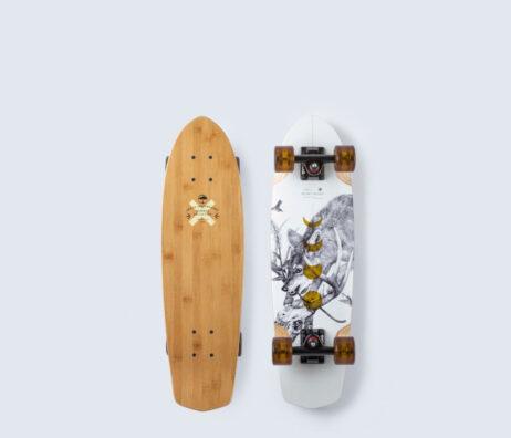 "Cruiser Skate ARBOR Bamboo Pocket Rocket 27"""