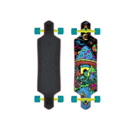 "Longboard Skate SANTA CRUZ Time Warp Drop Thru 36"""