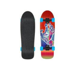 """Cruiser Skate SANTA CRUZ Iridescent Hand Shaped Red 31.70"""" skates skate"""