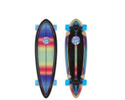 Longboard Skate SANTA CRUZ Iridescent Dot Pintail Multi 33' skates skate