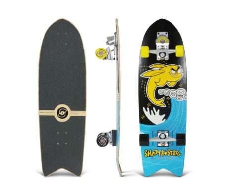 "Surfskate SMOOTHSTAR Flying Fish Yellow/Black 32"""